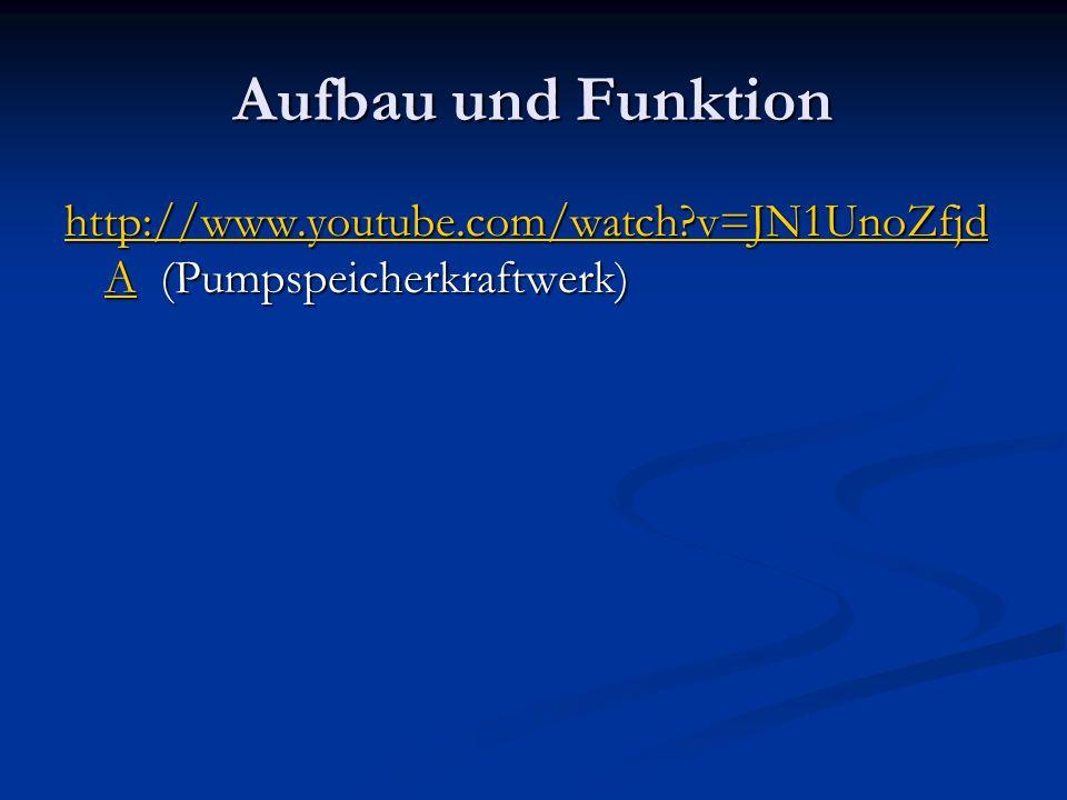 Aufbau und Funktion http://www.youtube.com/watch v=JN1UnoZfjdA (Pumpspeicherkraftwerk)