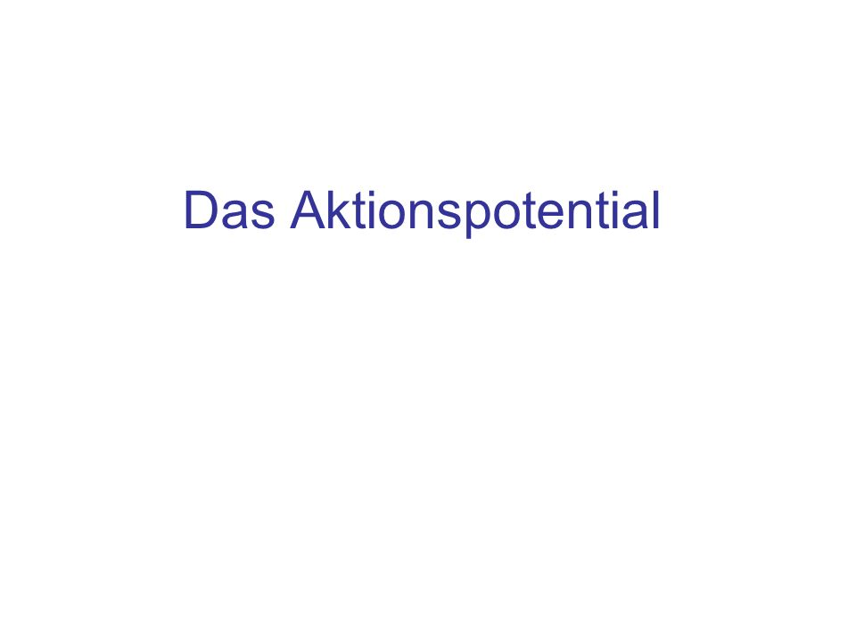 Das Aktionspotential