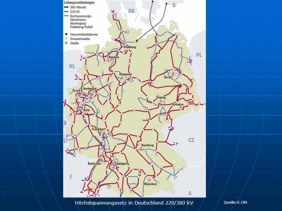 Höchstspannungsnetz in Deutschland 220/380 kV