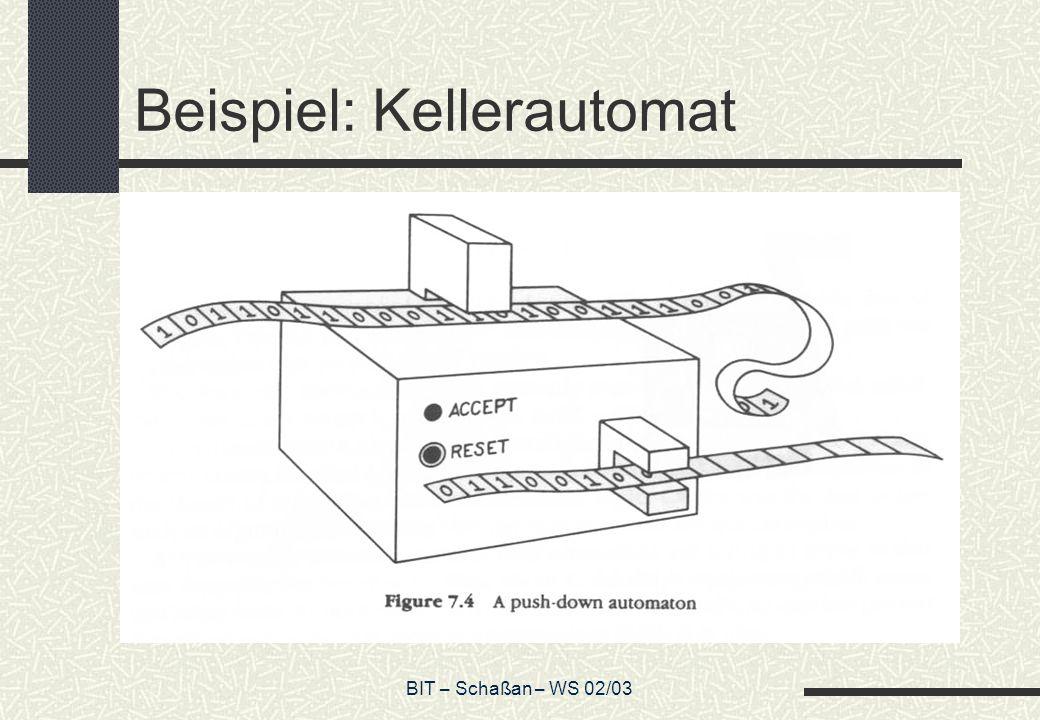 Beispiel: Kellerautomat