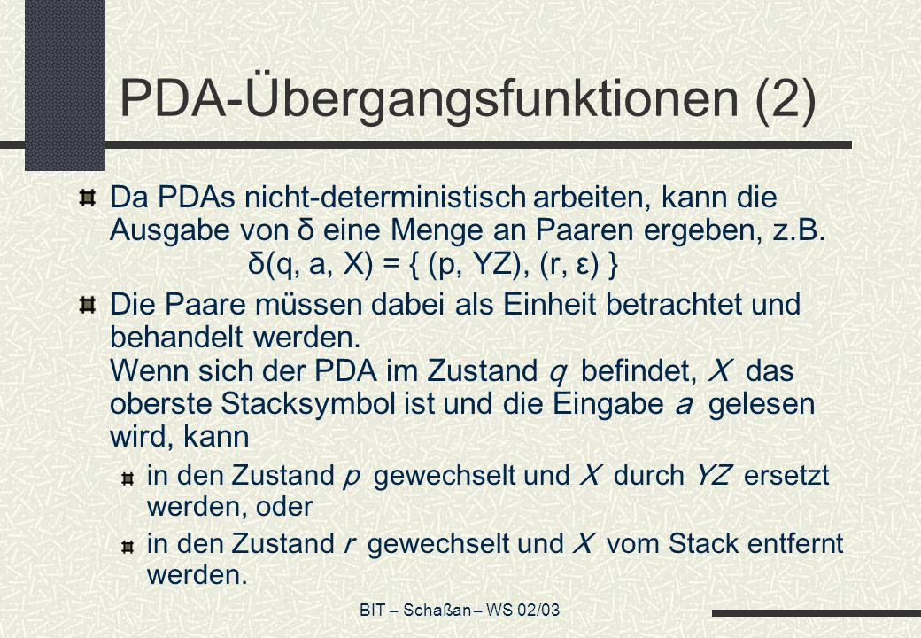 PDA-Übergangsfunktionen (2)