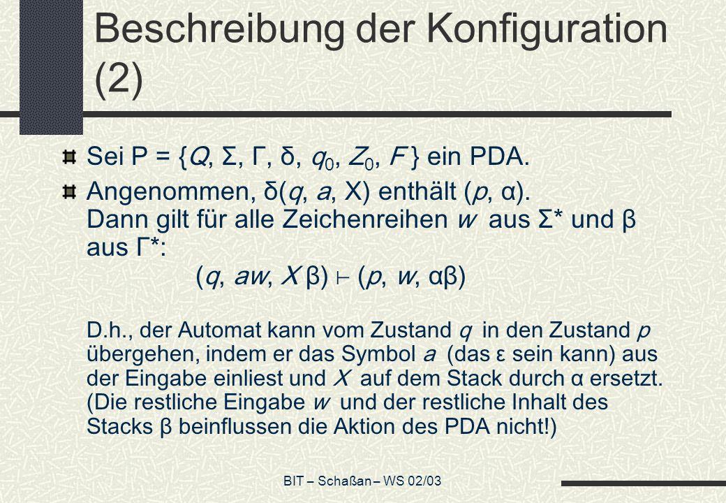 Beschreibung der Konfiguration (2)