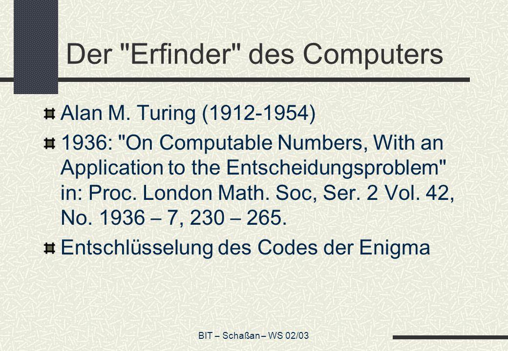 Der Erfinder des Computers