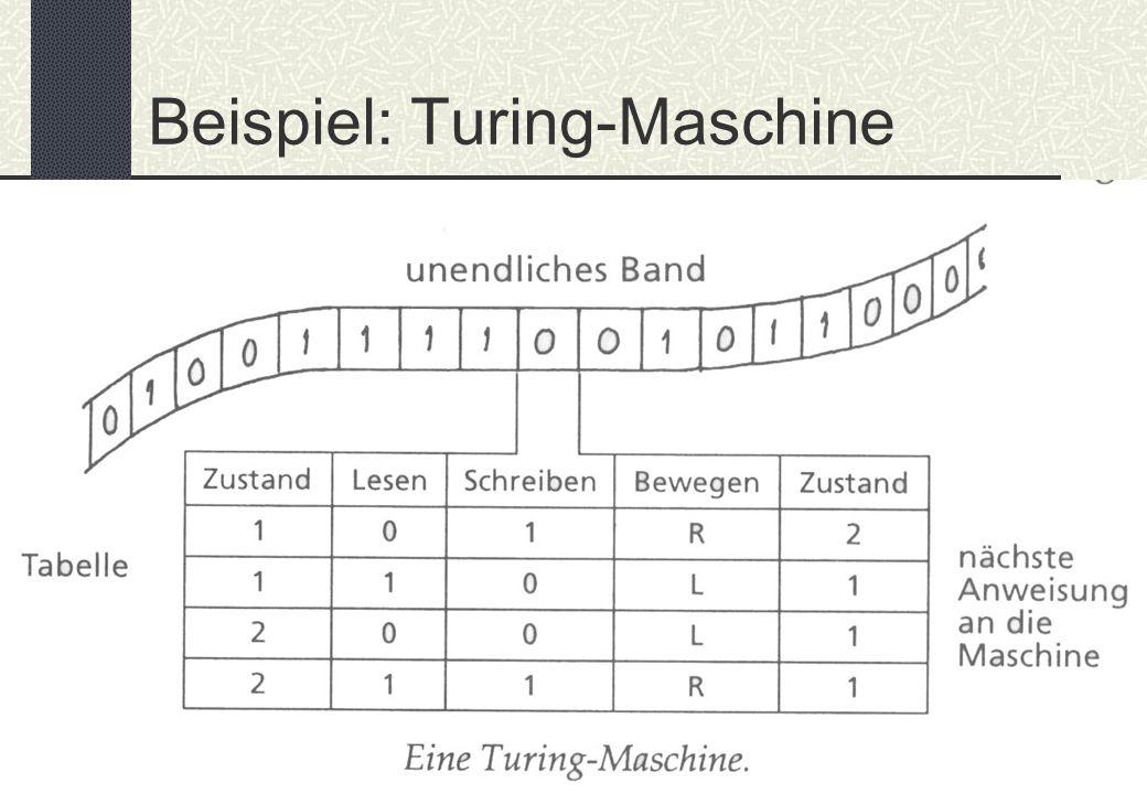 Beispiel: Turing-Maschine