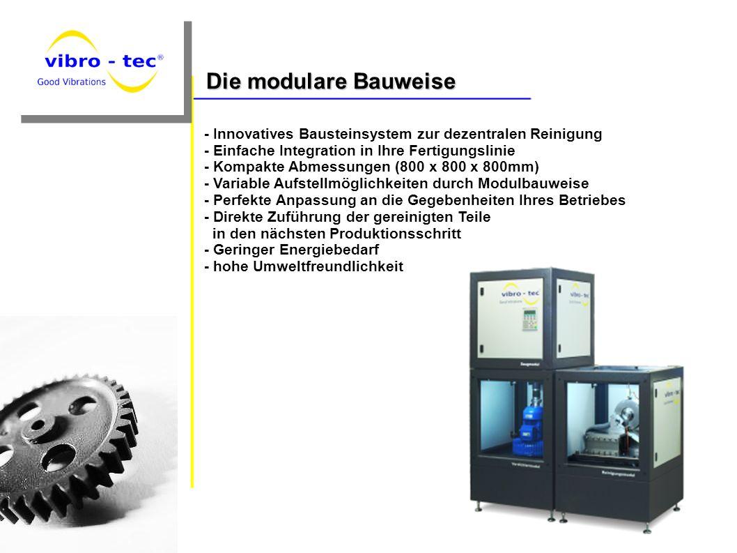 Die modulare Bauweise - Innovatives Bausteinsystem zur dezentralen Reinigung. - Einfache Integration in Ihre Fertigungslinie.