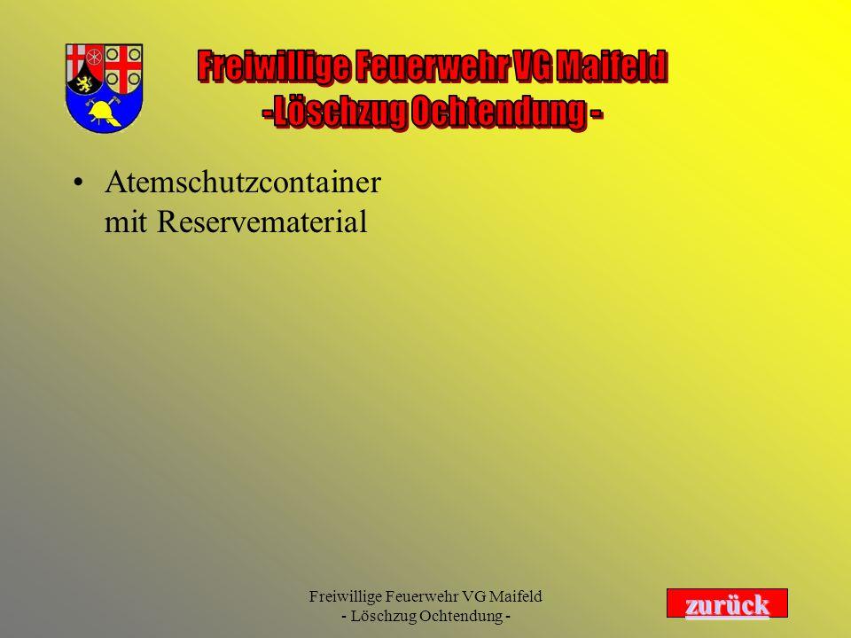 Atemschutzcontainer mit Reservematerial