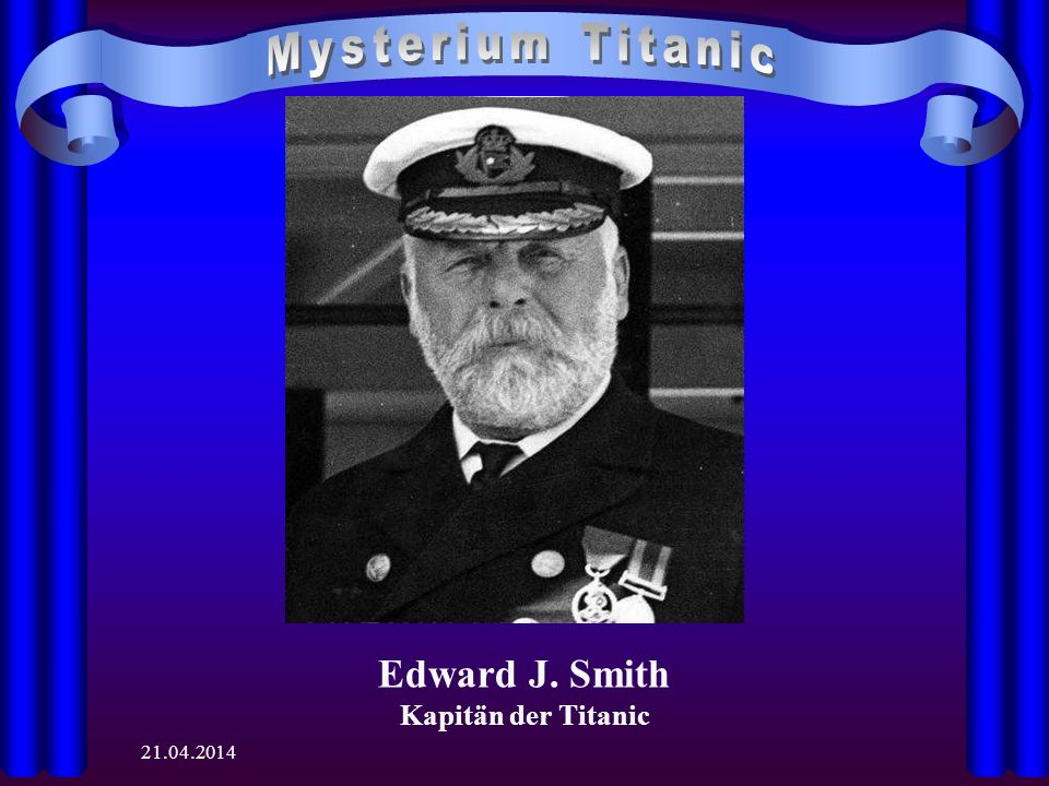 Edward J. Smith Kapitän der Titanic