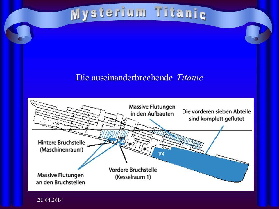 Die auseinanderbrechende Titanic