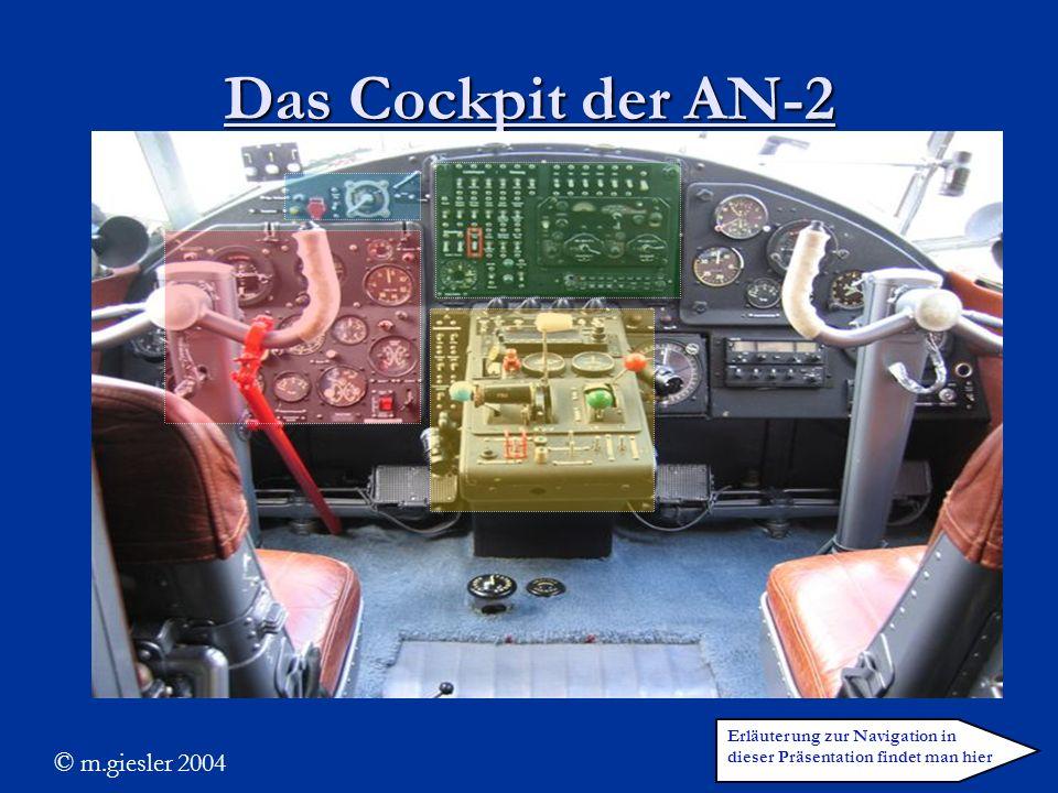 Das Cockpit der AN-2 © m.giesler 2004