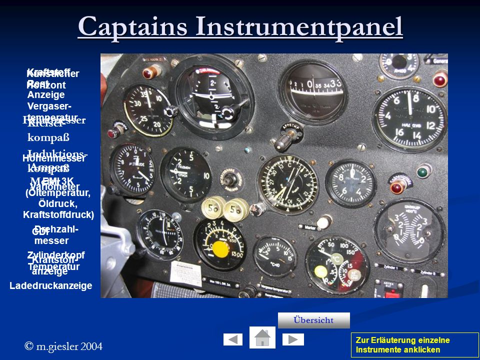 Captains Instrumentpanel