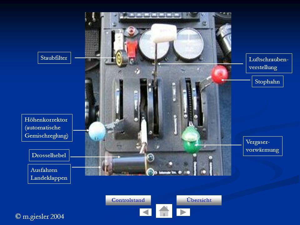 Controls Staubfilter Luftschrauben- verstellung Stophahn