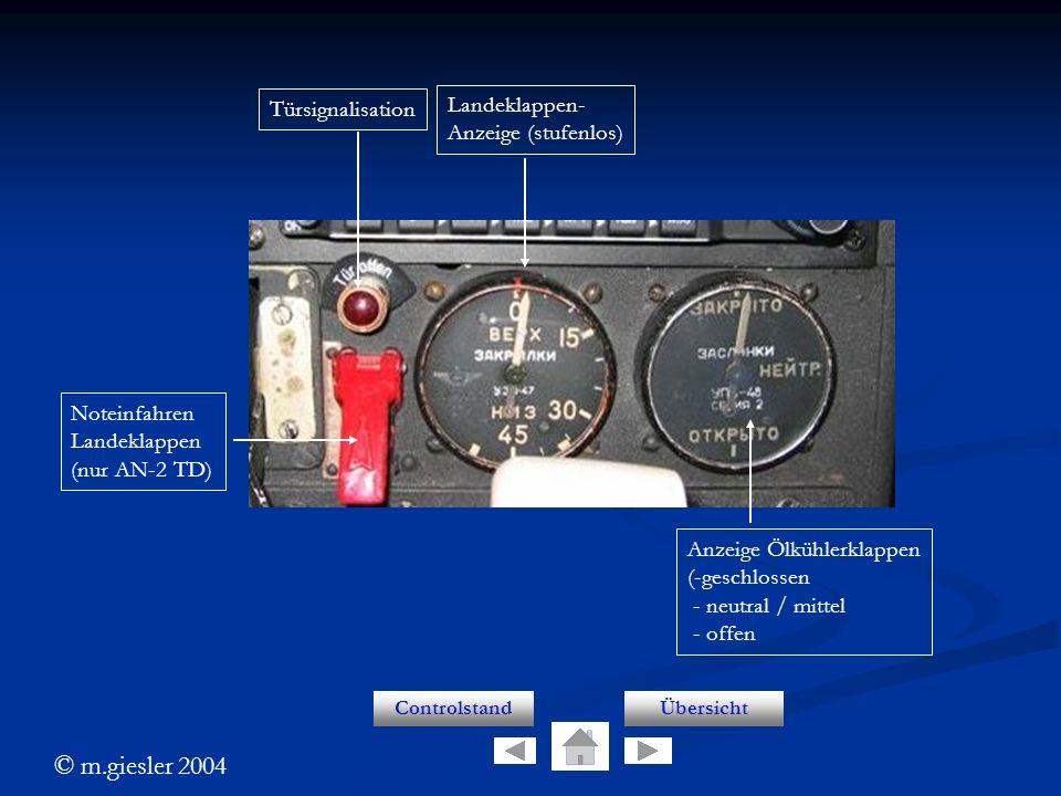 Lk anzeige Landeklappen- Türsignalisation Anzeige (stufenlos)