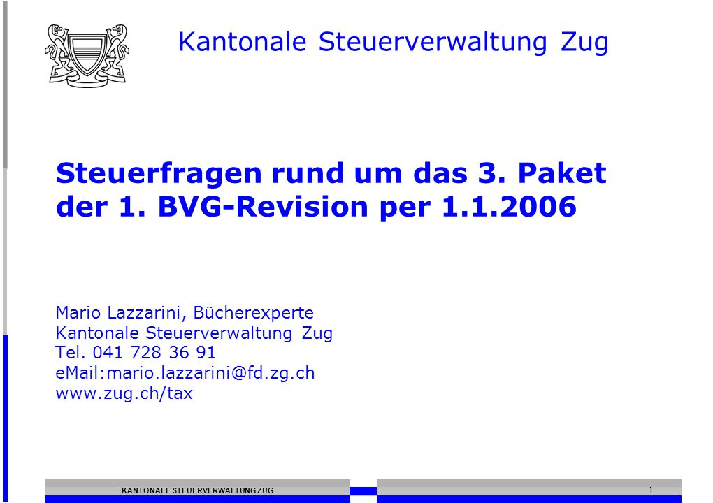 Kantonale Steuerverwaltung Zug