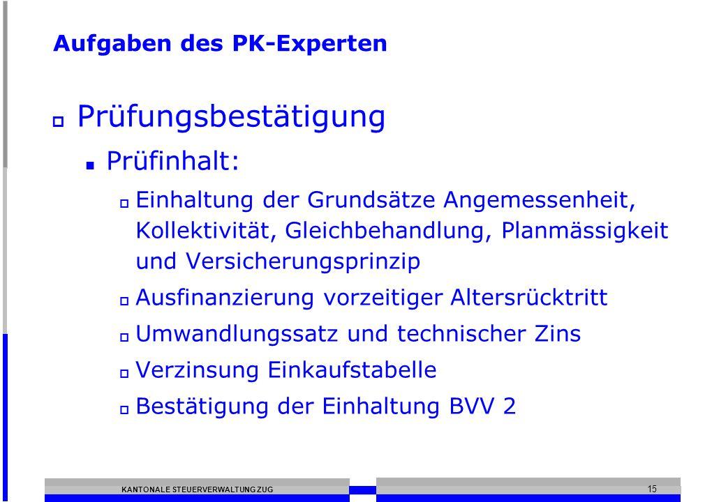 Aufgaben des PK-Experten