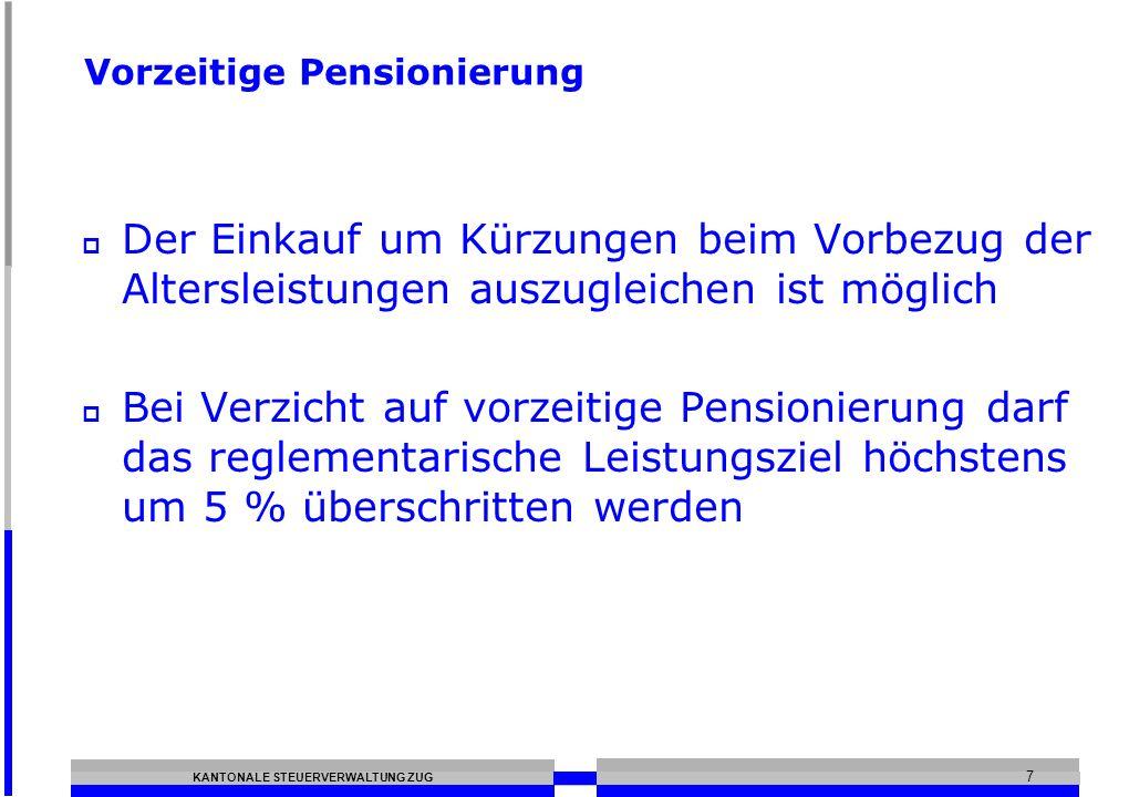 Vorzeitige Pensionierung