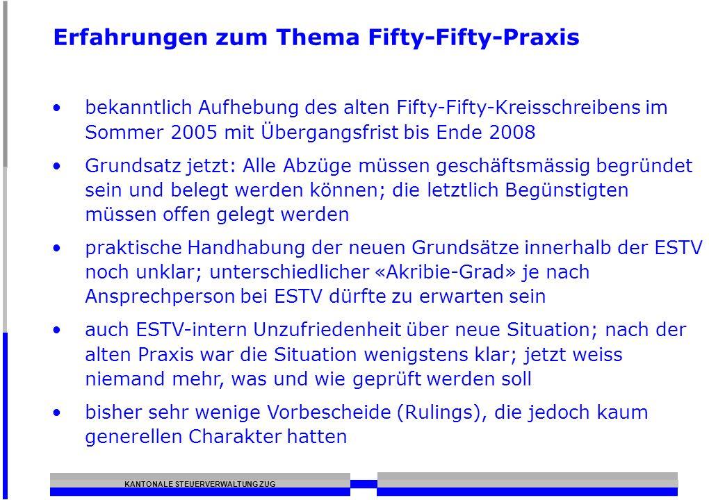 Erfahrungen zum Thema Fifty-Fifty-Praxis