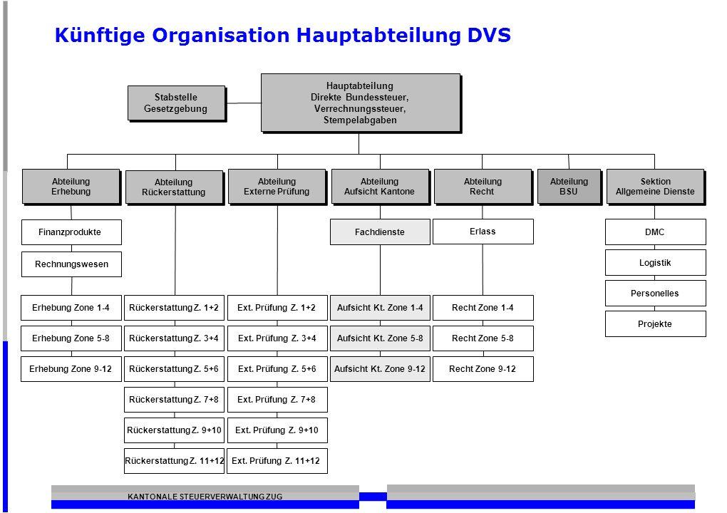 Künftige Organisation Hauptabteilung DVS