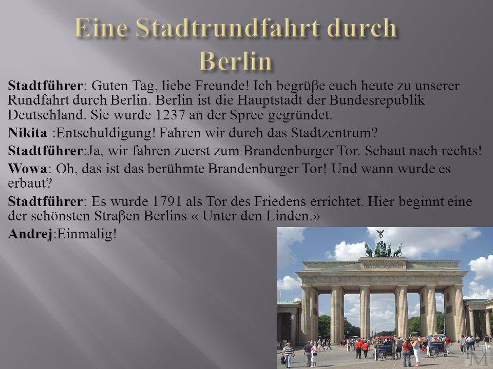Eine Stadtrundfahrt durch Berlin