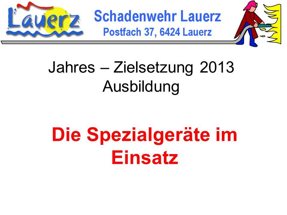 Jahres – Zielsetzung 2013 Ausbildung