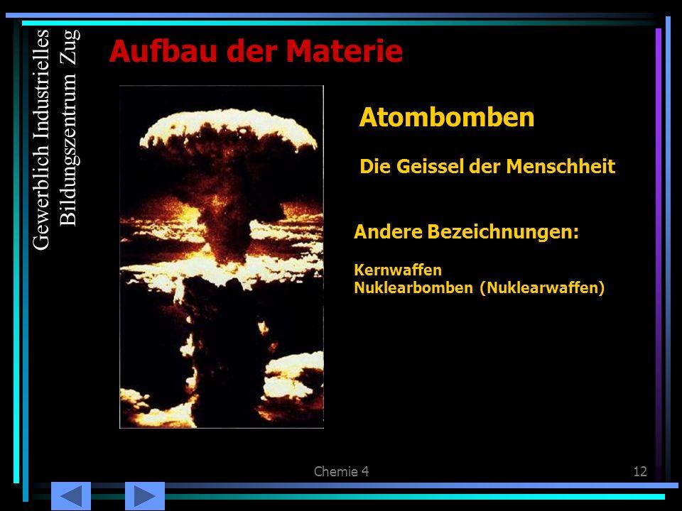 Aufbau der Materie Atombomben Gewerblich Industrielles