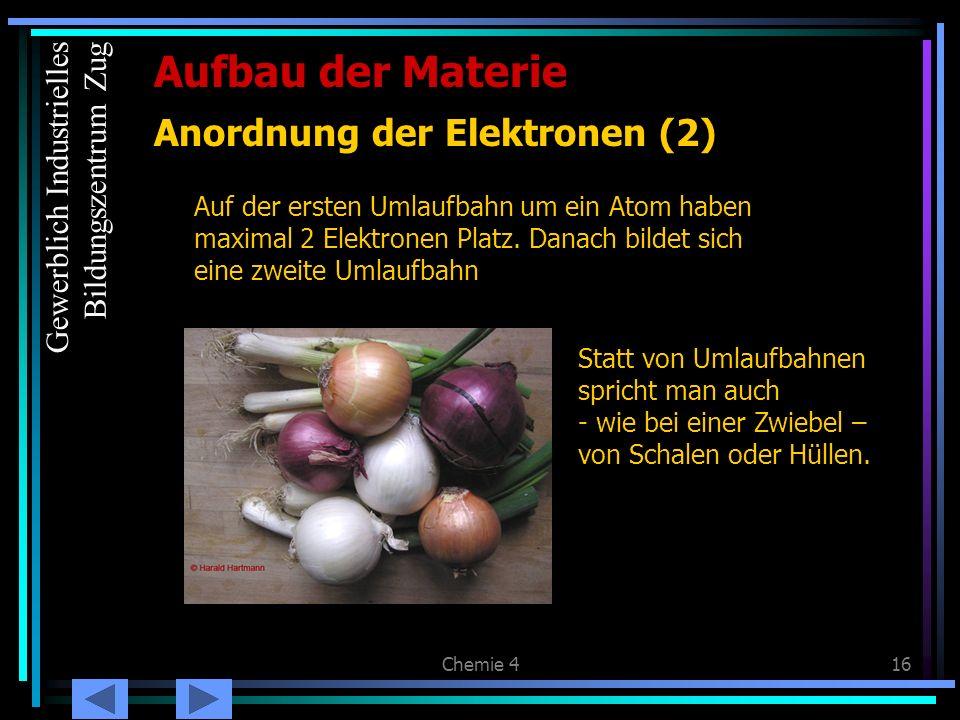 Anordnung der Elektronen (2)