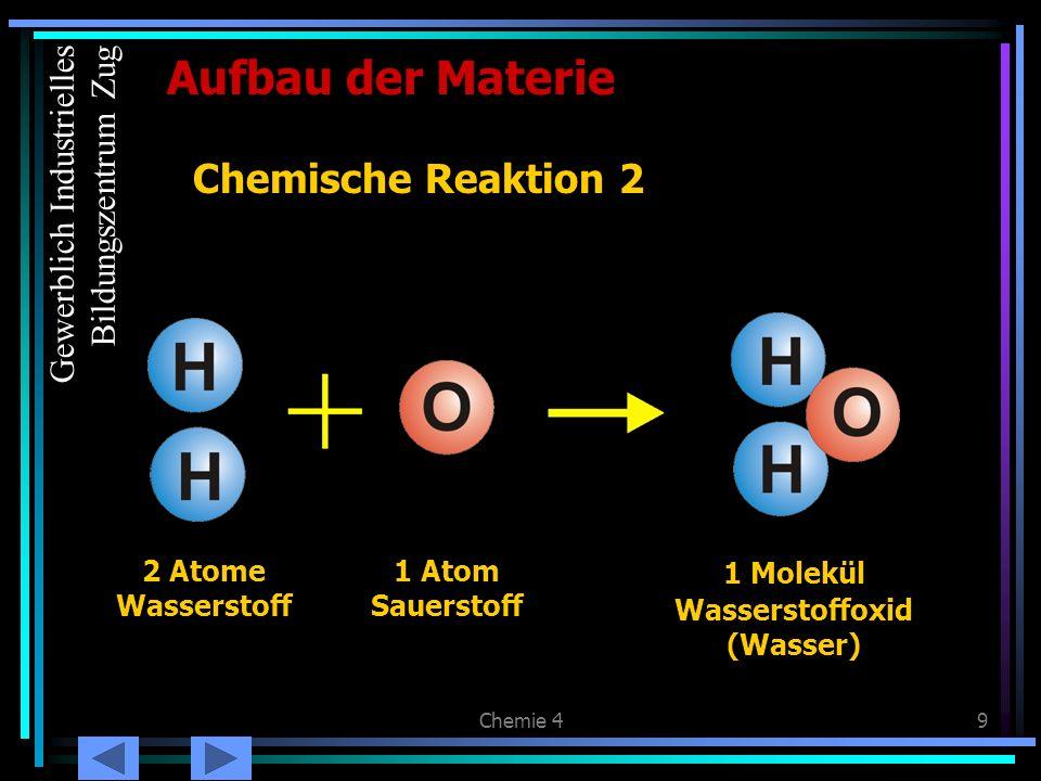 Aufbau der Materie Chemische Reaktion 2 Gewerblich Industrielles