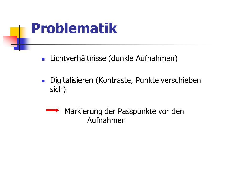 Problematik Lichtverhältnisse (dunkle Aufnahmen)