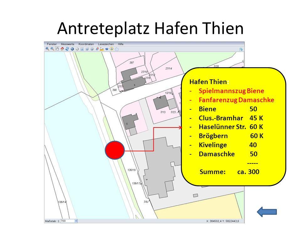 Antreteplatz Hafen Thien
