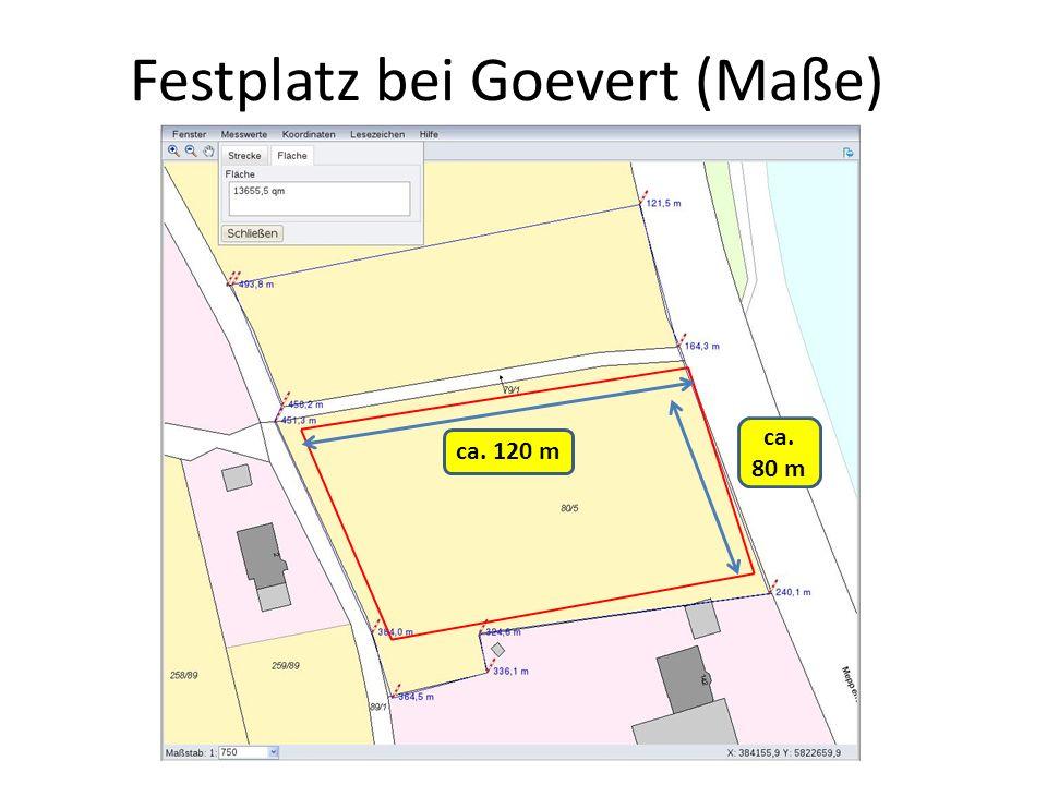 Festplatz bei Goevert (Maße)