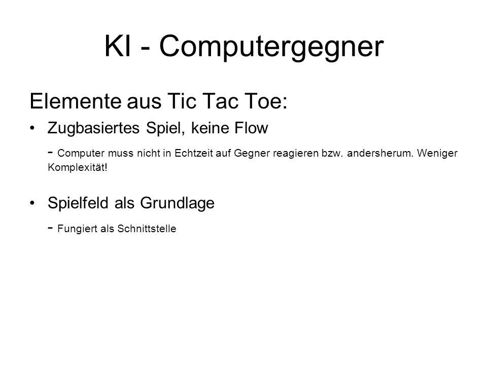 KI - Computergegner Elemente aus Tic Tac Toe:
