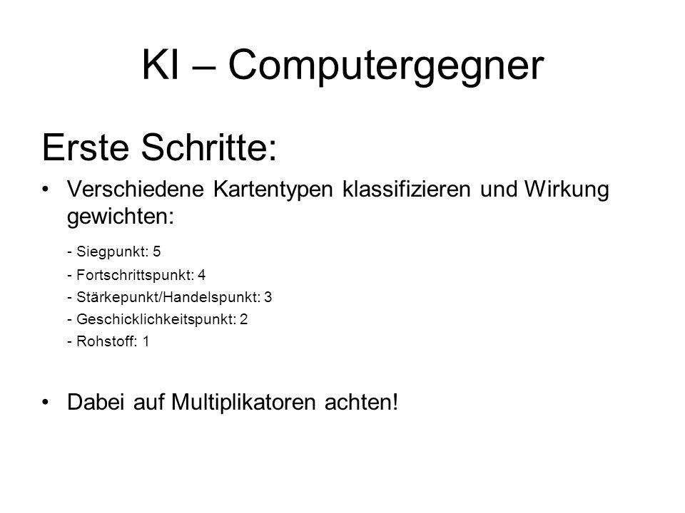 KI – Computergegner Erste Schritte: