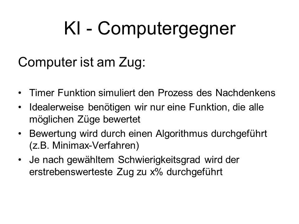 KI - Computergegner Computer ist am Zug:
