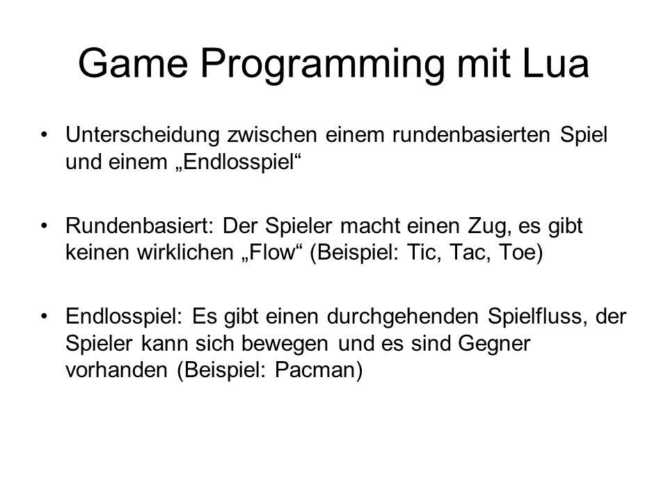 Game Programming mit Lua