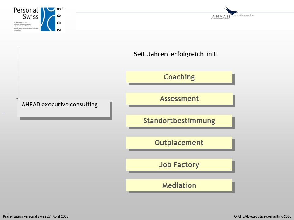 Coaching Assessment Standortbestimmung Outplacement Job Factory
