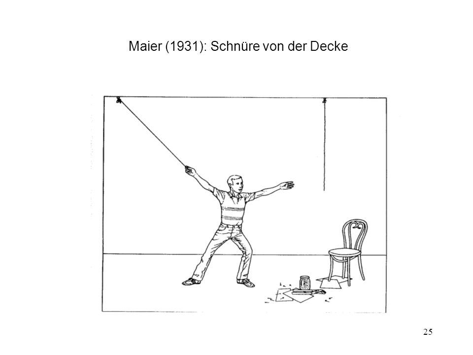 Maier (1931): Schnüre von der Decke