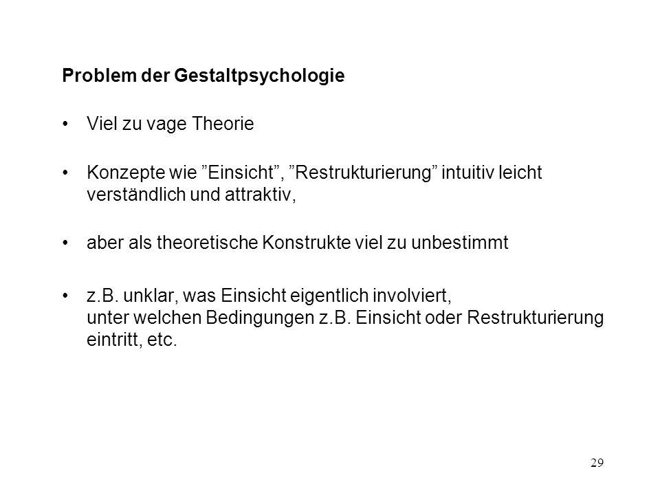 Problem der Gestaltpsychologie
