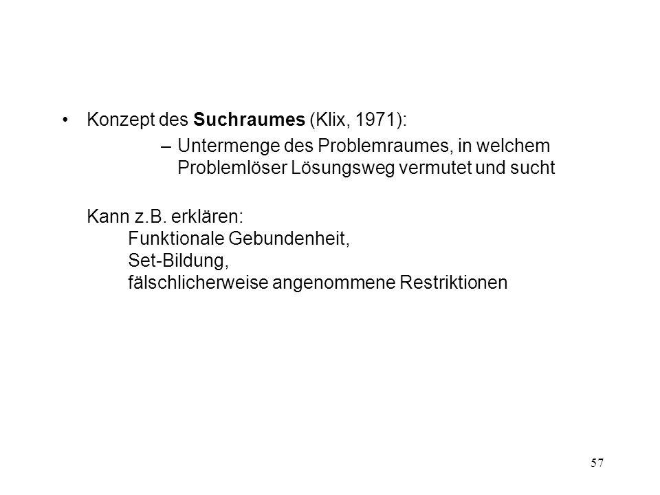 Konzept des Suchraumes (Klix, 1971):