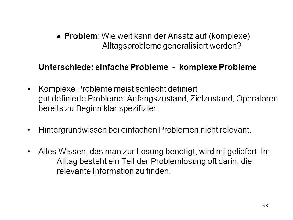Unterschiede: einfache Probleme - komplexe Probleme
