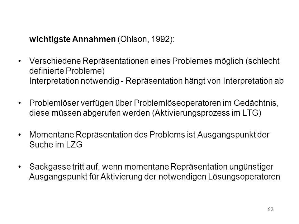 wichtigste Annahmen (Ohlson, 1992):