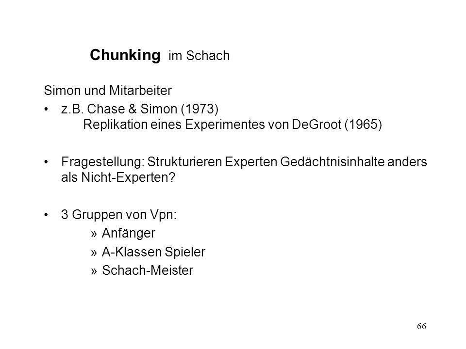 Chunking im Schach Simon und Mitarbeiter