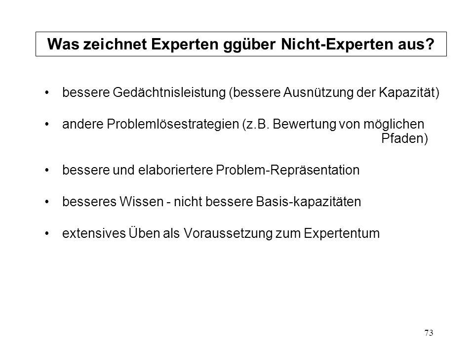 Was zeichnet Experten ggüber Nicht-Experten aus