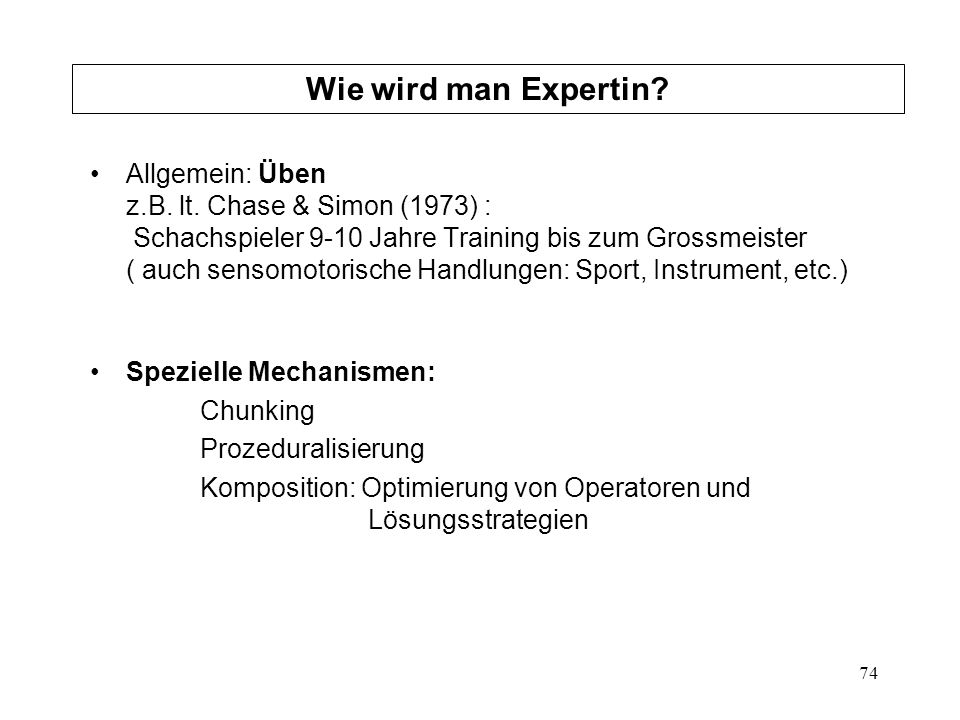 Wie wird man Expertin