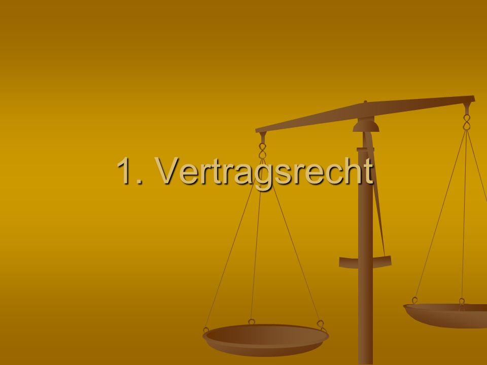 1. Vertragsrecht