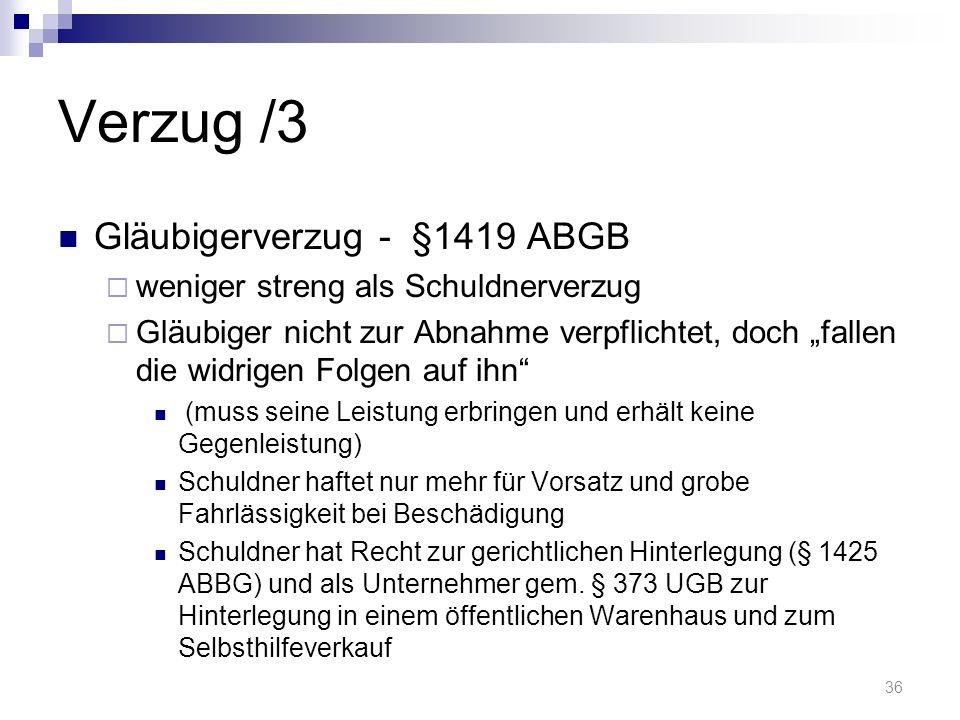 Verzug /3 Gläubigerverzug - §1419 ABGB