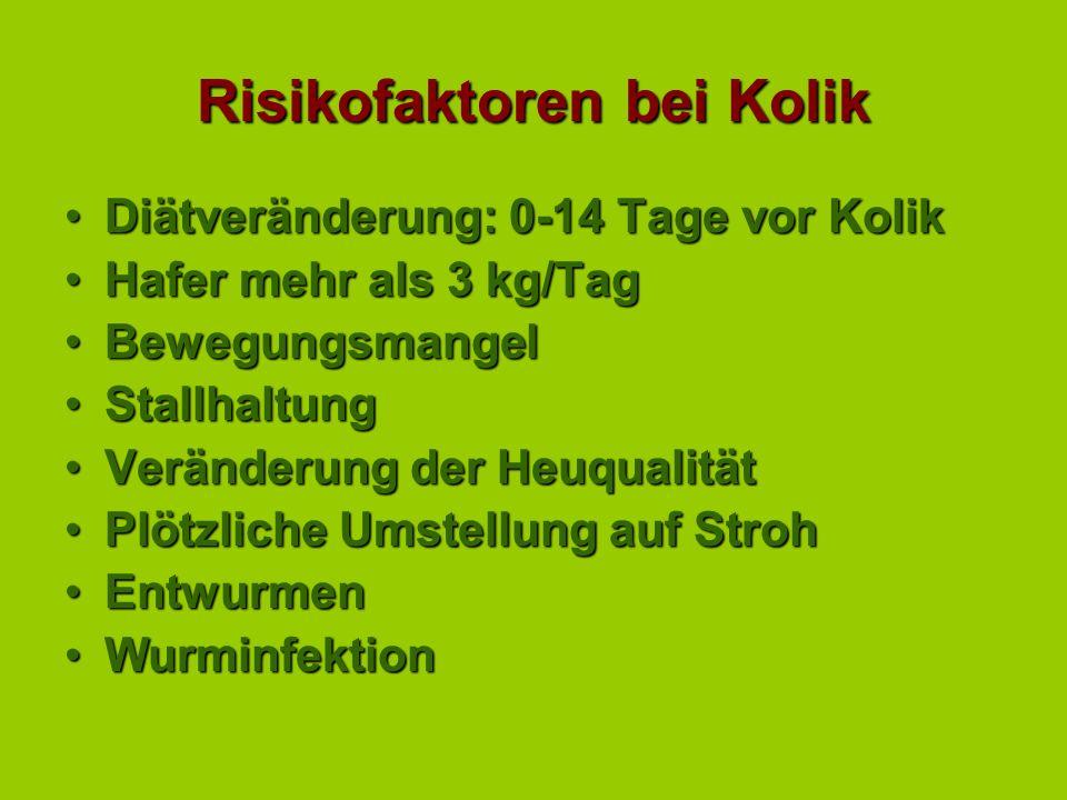 Risikofaktoren bei Kolik