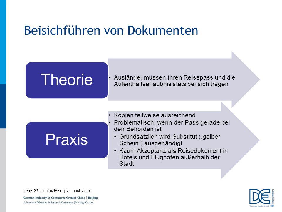 Theorie Praxis Beisichführen von Dokumenten