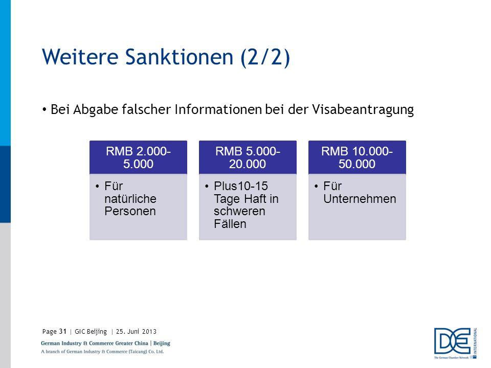 Weitere Sanktionen (2/2)