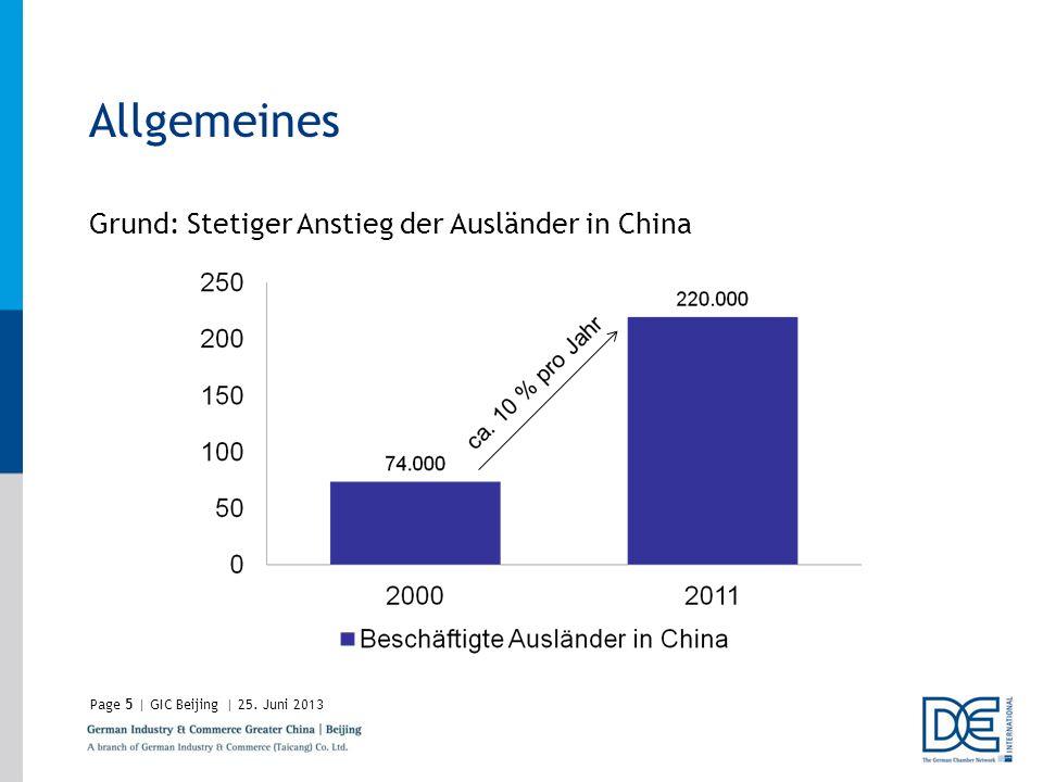 Allgemeines Grund: Stetiger Anstieg der Ausländer in China