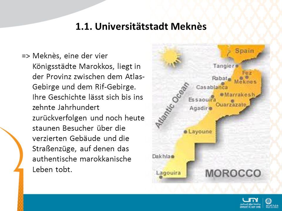 1.1. Universitätstadt Meknès