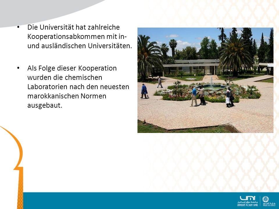 Die Universität hat zahlreiche Kooperationsabkommen mit in- und ausländischen Universitäten.